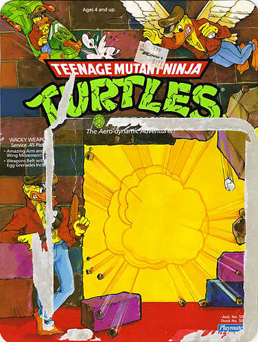 TEENAGE MUTANT NINJA TURTLES :: ACE DUCK  .. card backer i (( 1989 ))