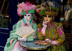 Vous prendrez bien un chocolat ? (Edgard.V) Tags: vineyard women mask harvest silk hats gloves gowns festa grape uvas vinhas colheta