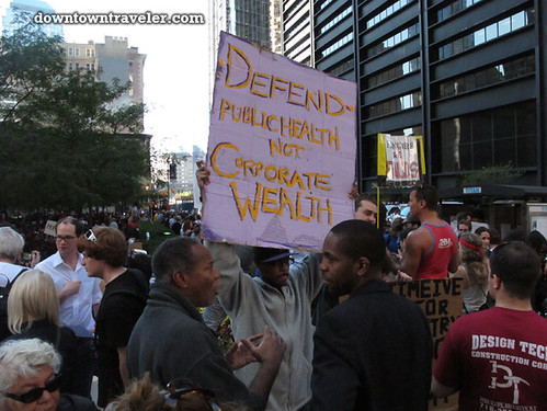 NYC Occupy Wall Street Rally Oct 8 2011 corporate wealth