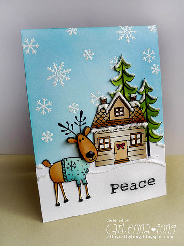 Peace Reindeer card