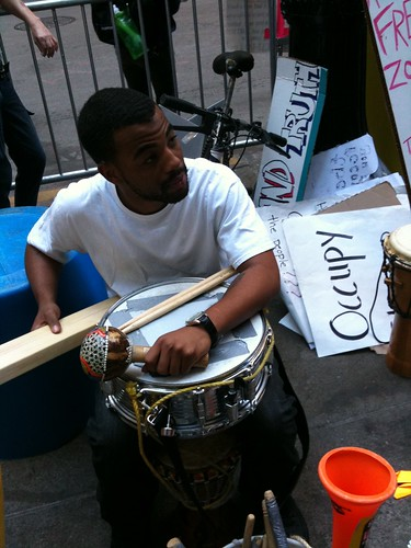 One of the musicians @ Occupy Chicago