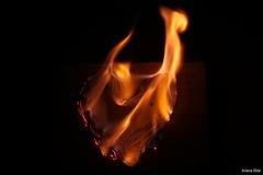 Corao de Fogo (Ariana Eble) Tags: orange black night canon dark fire eos rebel 50mm heart laranja preto corao noite fogo escuro ariana corda 500d barbante eble t1i arianaeble