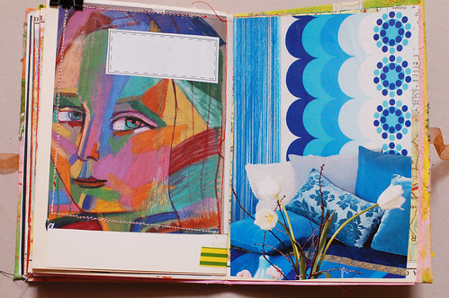 Journal of Scraps I: her & blue