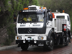 O-Bahn recovery vehicle (RS 1990) Tags: mercedes benz busway vehicle recovery obahn doubleended teatreeplaza