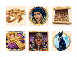 free Ramesses Riches slot game symbols