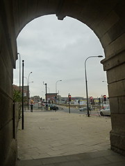View from inside the Wicker Arches (DJN...) Tags: street new england english shop shopping south sheffield yorkshire tesco supermarket extras shops wicker saville extra supermarkets tescos spital
