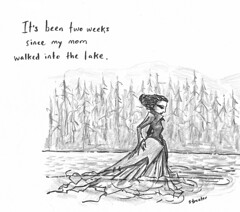 It's Been Two Weeks (betsystreeter) Tags: woman lake mystery drawing story fantasy novel drama drown grpahic