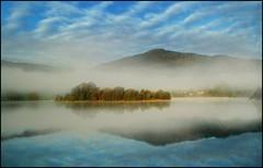 One Autumn Morning (adrians_art) Tags: autumn trees sky cloud mist mountains fog reflections hills cumbria lakegrasmere