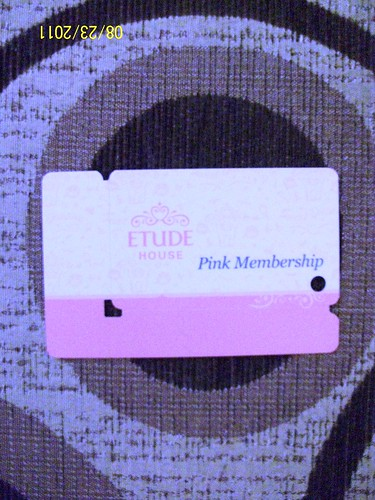memebership card of etude house