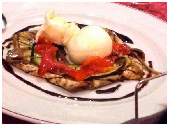 Burrata and grilled vegetables - Il Mirto, Geneva