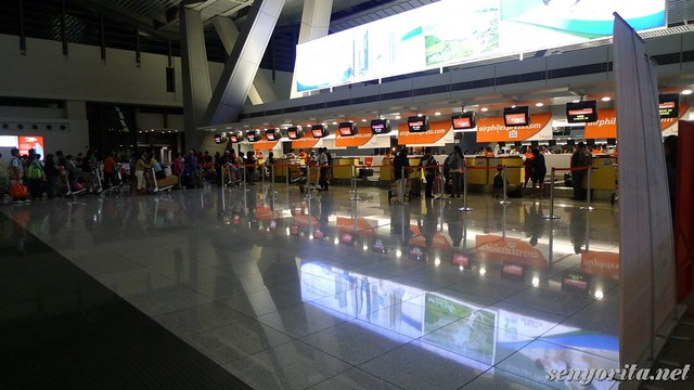 AirPhil Express counter at NAIA 3