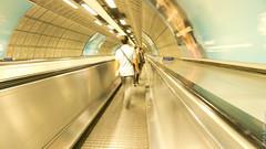 Moving walkway - tapis roulant (geofana) Tags: leica uk london moving slow unitedkingdom united tapis roulant kingdom walkway londres slowshutter shutter angleterre movingwalkway tapisroulant creamcolor dlux5