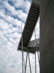 Stairs10 (Ximo Michavila) Tags: blue sky abstract building art college geometric silhouette metal wall architecture clouds stairs concrete grey design perspective diagonal dalygenik archidose ximomichavila