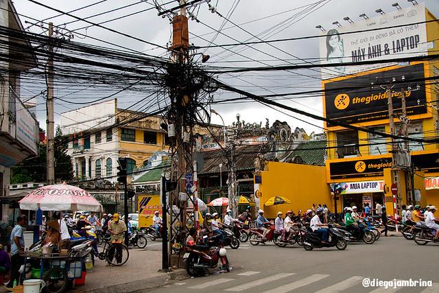 Calle en Saigón, Vietnam