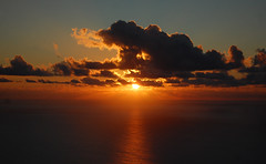 Sunset over Lanzarote. (Sky and Yak) Tags: islands spain lanzarote canary viewpoint atlanticocean canaryislands guinate