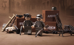 The streets of Carentan (_Tiler) Tags: print soldier design uniform lego wwii german weapon minifig custom ammunition minifigure wehrmacht germansoldier brickarms brickforge tinytactical citizenbrick brickizimo