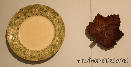 Antique Plate and Maple Leaf from Mom