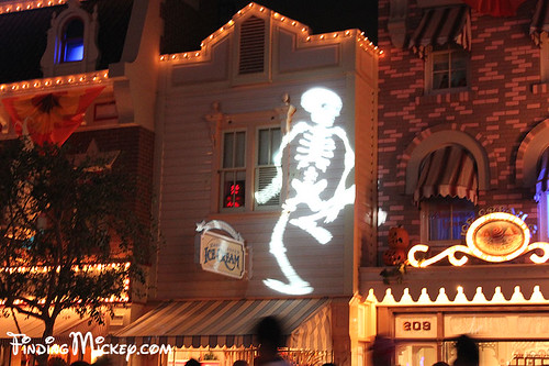 skeleton on main street, USA