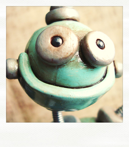 Sneak Peek | Robot made be blue and rustic, but is happy about it by HerArtSheLoves