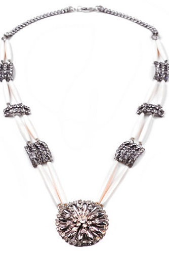 Double Long Pipe Necklace