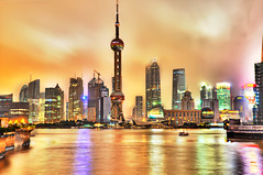 The Bund, Shanghai (Sprengben [why not get a friend]) Tags: world china city wedding summer sky music newyork paris art japan skyline clouds skyscraper observation hongkong tokyo bay harbor amazing rainbow nikon asia ship shanghai artistic time gorgeous awesome watch hamburg elevator style symmetry divine international stunning metropolis charming foreign fabulous pudong hdr jinmaotower linear englandlondon thebund orientalpearltower engaging travelphotography huangpuriver  d90 photomatix shanghaiworldfinancialcenter travellight d3s sprengbenurban witn t tributaryoftheyangtze