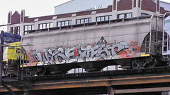 WYSE & AEST (BLACK VOMIT) Tags: train graffiti ol virginia south grain engine dirty richmond mc dos va d30 mayhem hopper freight wh csx wyse aest grainer