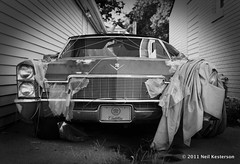 Cadillac Unwrapped (Neil Kesterson) Tags: usa nikon kodak lexington kentucky ky cadillac ektar fm2n silverfast plustek opticfilm7500i