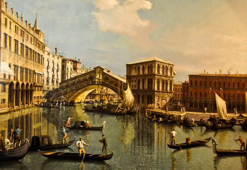 Canaletto - Le Pont du Rialto at Louvre Museum Paris France