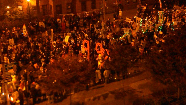 #OccupyWallStreet's big 99% in the Halloween Parade
