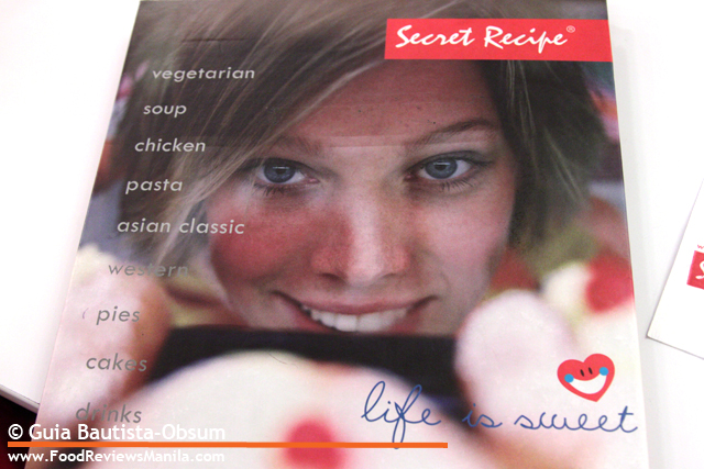 Secret Recipe menu