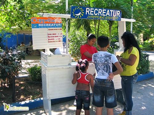 Locals Enjoying Family Day at Coppelia Ice Cream Shop Havana Cuba