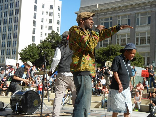 Rappers at Occupy Oakland General Strke - 1