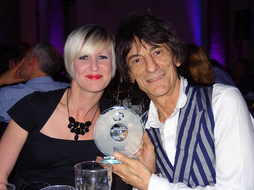 Ronnie Wood and Claire Neal