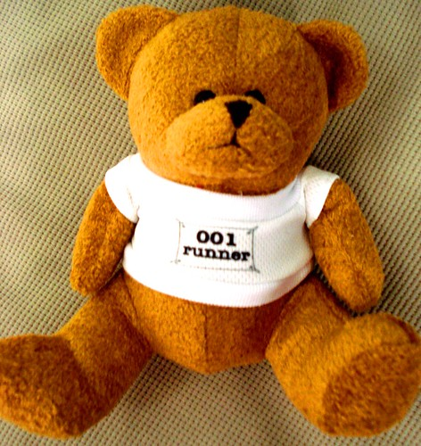 Runner Bib Teddy Bear