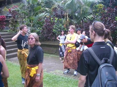 Visitor in Pura Batukaru