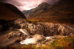 ABOVE THE PASS (Michael Halliday) Tags: uk longexposure autumn water landscape highland flowing hitech nikond90 sigma1020f456dc 10stopper