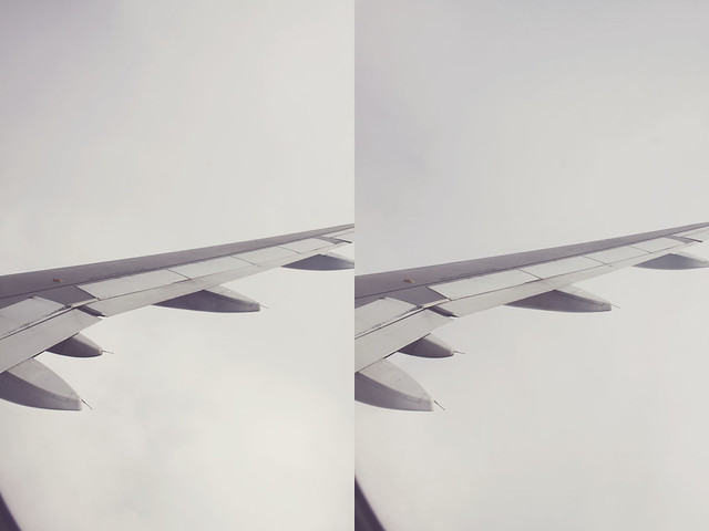 airplane window diptych 6