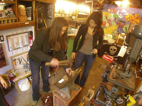 Women of Tacoma Upcycle U.S. Pennies, Gain Valuable Anvil Experience