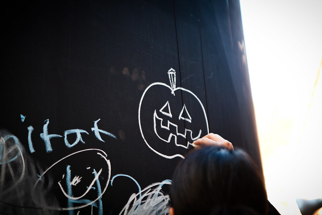 Chalk Jack O Lantern [EOS 5DMK2 | EF 24-70L@70mm | 1/180 s | f/2.8 |  ISO400]