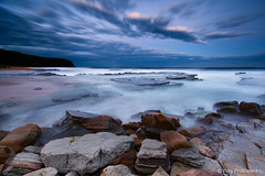 Night Falls on Turimetta (-yury-) Tags: ocean sea seascape beach nature water night landscape rocks dusk sydney australia nsw turimetta thepowerofnow