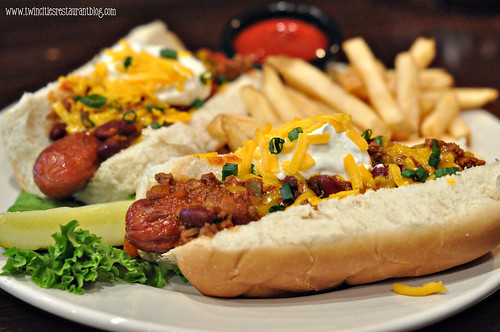 Chili Cheese Dogs at Stout's Pub ~ Falcon Heights, MN