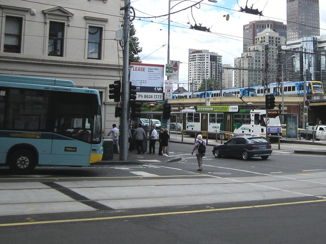 Bus, tram, train