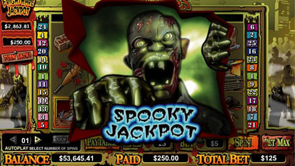 Zone Of  Zombies Progressive Jackpot