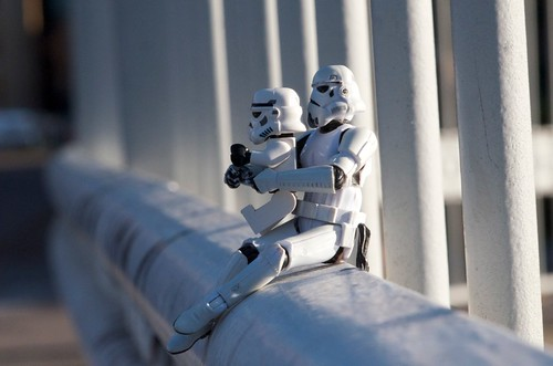 Stormtroopers fence friday by Kalexanderson