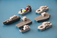 Fleet (Multihawk) Tags: lego military ships navy mini future fleet nano warfare warships microscale