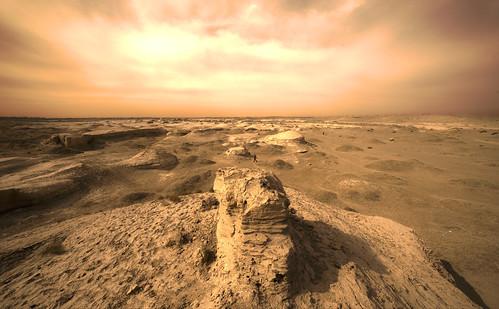 無料写真素材, 自然風景, 砂漠, 風景  中国・中華人民共和国, ゴビ砂漠