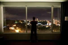 Thoughts (Buldrock) Tags: portrait panorama window skyline self hotel finestra sarawak notturna notte kuching longexposition pullmanhotel buldrock stefanobuldrini