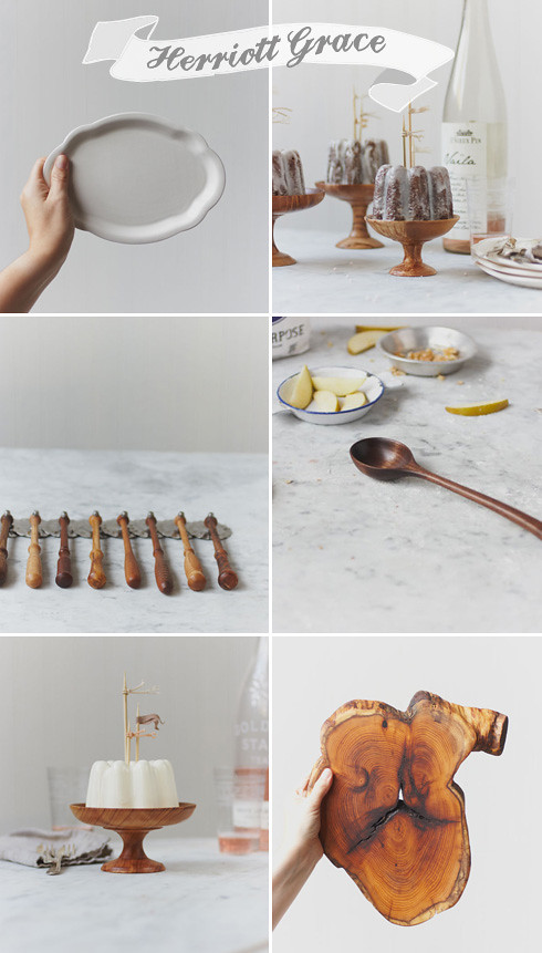 herriott grace wooden hand craft serving pieces