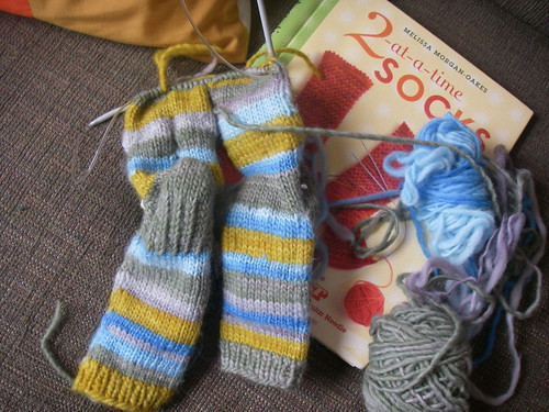 socks - almost done