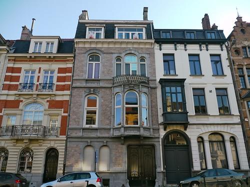 Bruxelles, Belgique: maison d\'inspiration néoclassique, de ...